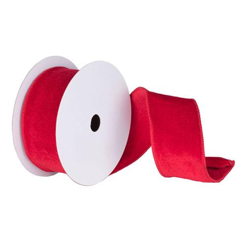 Red 30 Foot Velvet Ribbon