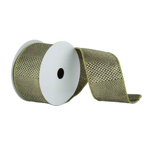 Sage 30 Foot Textured Wide Stripe Ribbon