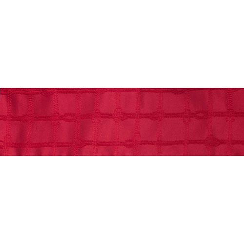 Vickerman Red Rope Check Jacquard Ribbon, Ten Yards