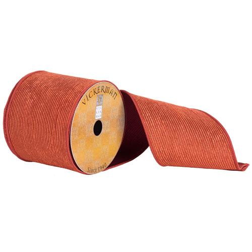 Copper Corduroy Ribbon, Ten Yards