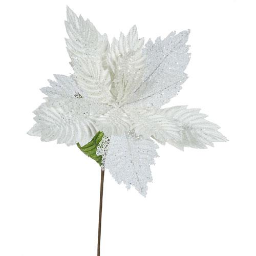 Cream Poinsettia Flower, Set of Six