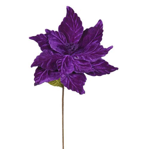 Vickerman Purple Poinsettia, Set of Six