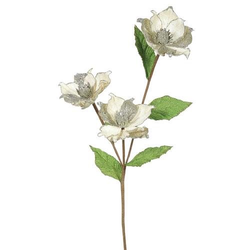 Vickerman Champagne Magnolia Flower, Set of Six