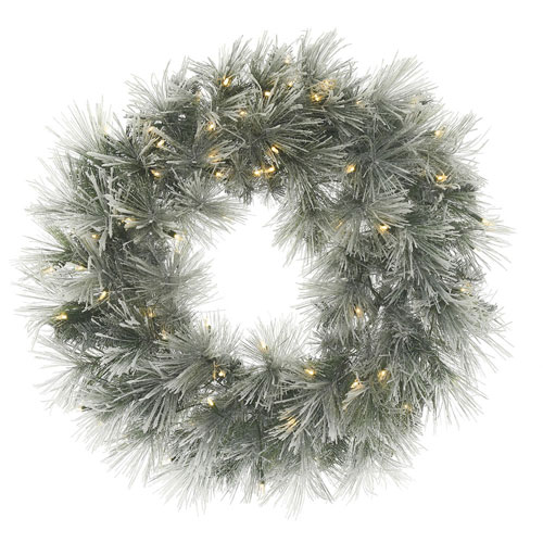 30 In. Flocked Walden Wreath