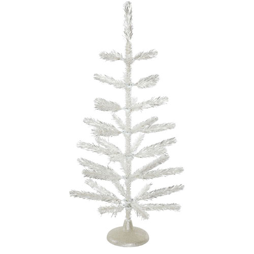 3 Ft.  Silver Feather Tree