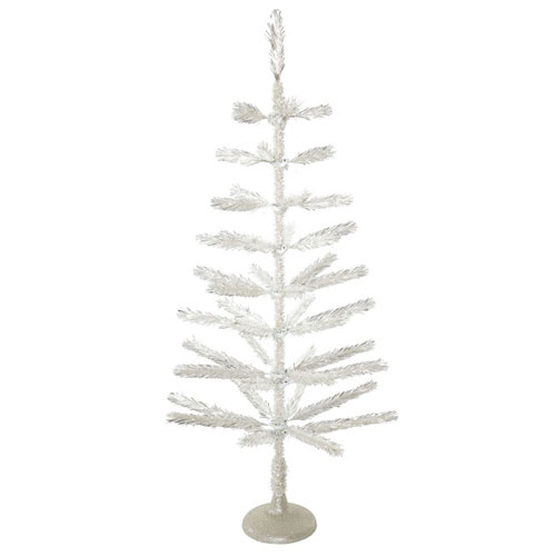 4 Ft. Silver Feather Tree