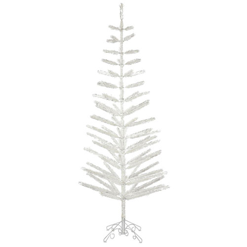 Vickerman 7 Ft. Silver Feather Tree