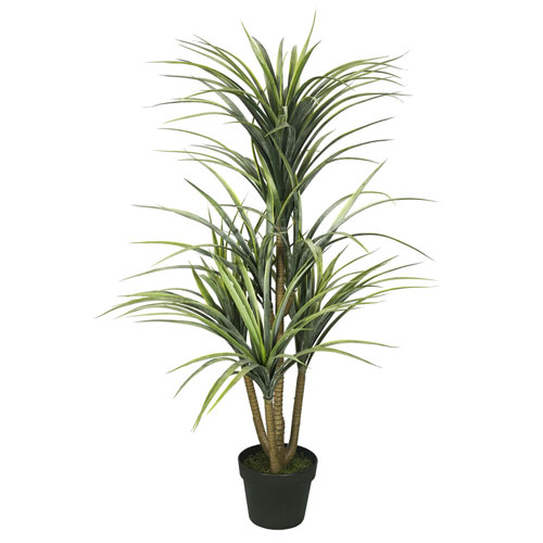 Plastic Green Yucca with Pot