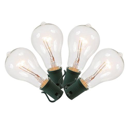 10 Light Clear Glass String Lights