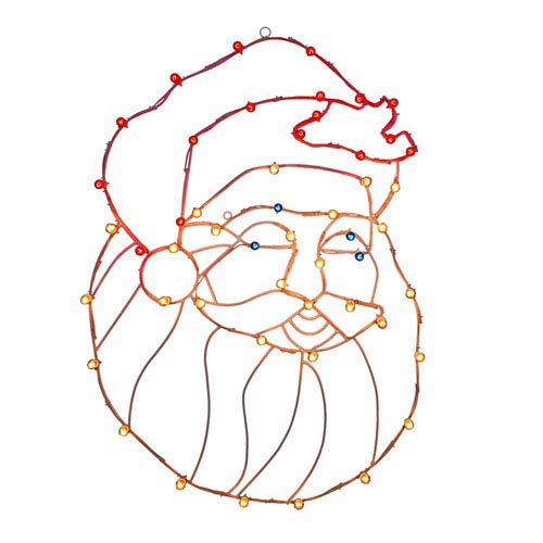 Multicolor Santa Head Wire Motif