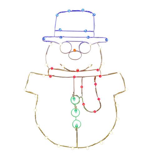 48 In. Snowman C7 Wire Motif