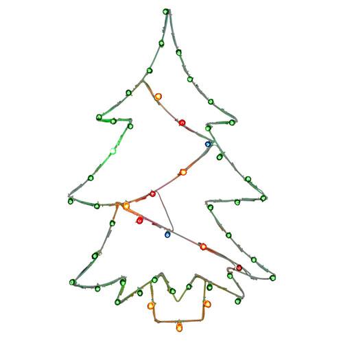 Multicolor Christmas Tree Wire Motif