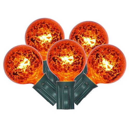 10 Light Orange Mercury Light Set