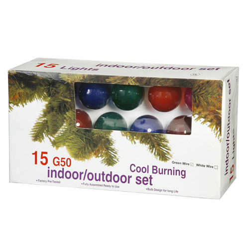 Vickerman Multi-Color Light Set G50 Bulbs and Light Set G50