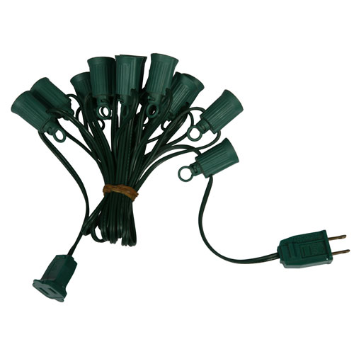 Green C9 Socket Wire 25-foot