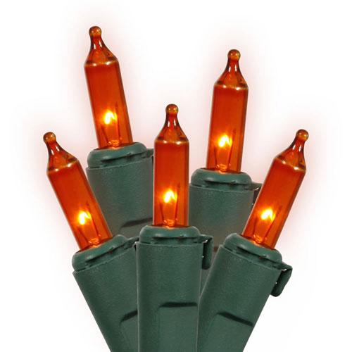 Amber 33 Foot Lock Light Set with 100 Lights