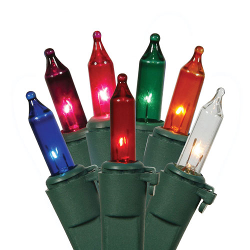 Vickerman Multi-Color Light Set Green Wire Light Set 50 Lights