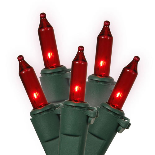 Vickerman Red Green Wire Light Set 50 Lights