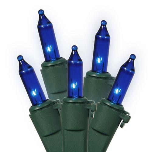 Blue 46 Foot Lock Light Set with 100 Lights
