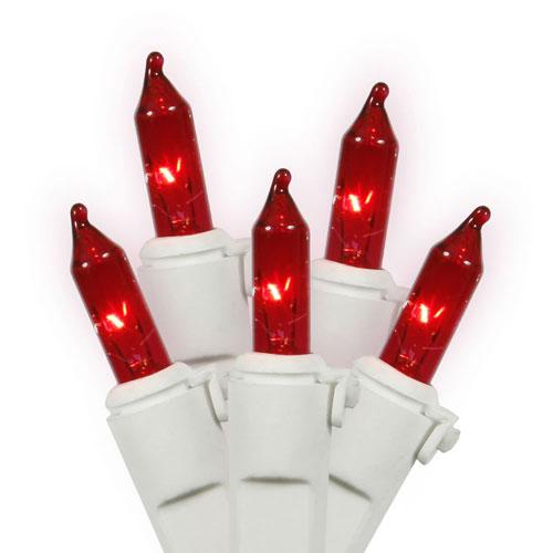 Vickerman Red White Wire Light Set 50 Lights