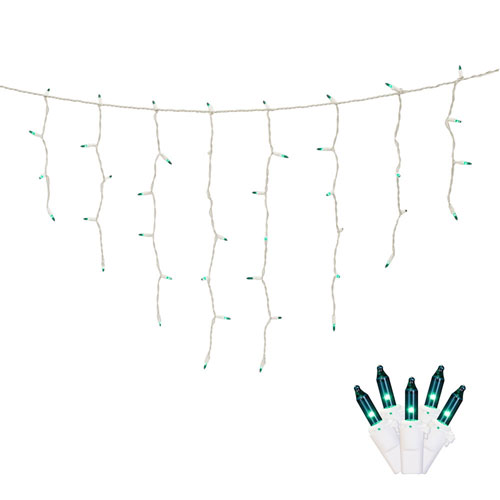 Teal 9 Foot Icicle Light Set with 100 Lights