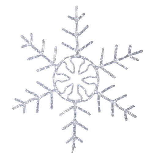 Vickerman 24 In. LED Pure White Forked Snowflake