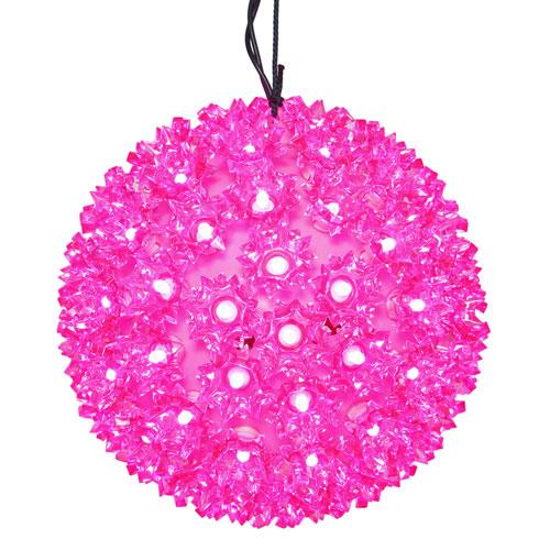 100 Light LED Pink Starlight Sphere Light Set