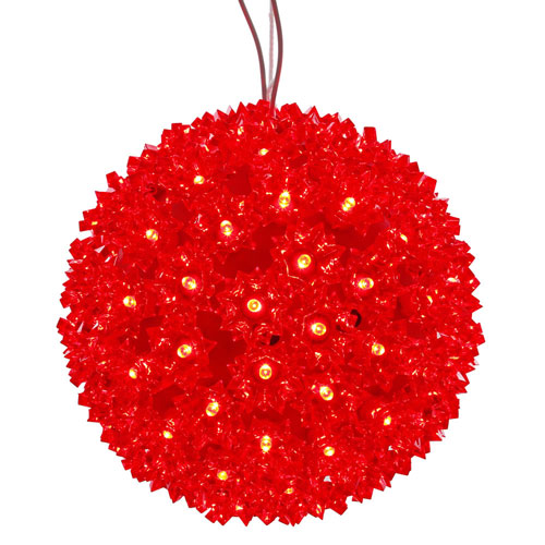150 Light LED Red Starlight Sphere String Light