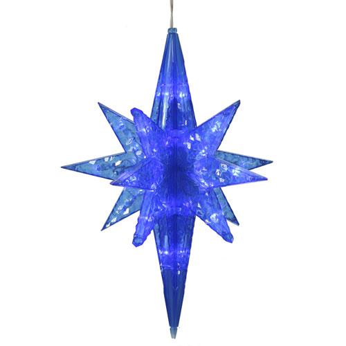 Blue Bethlehem Star 50 Light x 20-inch