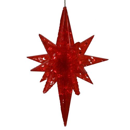 Vickerman Red 20-inch Bethlehem Star 50 Lights