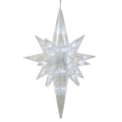 Vickerman Pure White 20-inch Bethlehem Star 50 Lights