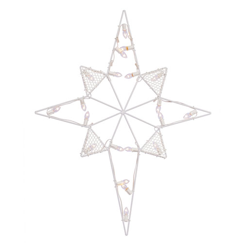 39 In. LED C7 Wire Star of Bethlehem
