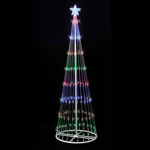 Multicolor 4 Foot LED 152 Light Show Tree