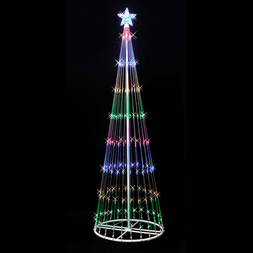 Multicolor 9 Foot LED 344 Light Show Tree