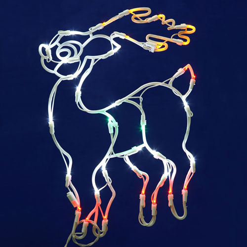 Brown LED Reindeer Window Decor