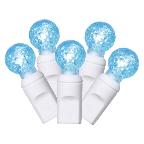 Teal 34 Foot LED Italian Light Set with 100 Lights