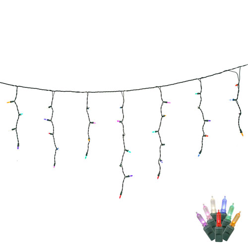 Multicolor LED Icicle Light Set with 70 Lights