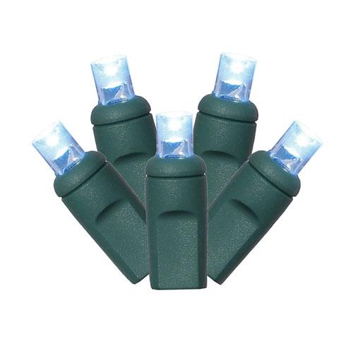 50 Light LED Turquoise Twinkle Light Set
