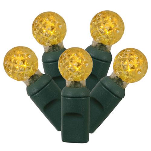 Yellow LED Light Set with 50 Lights