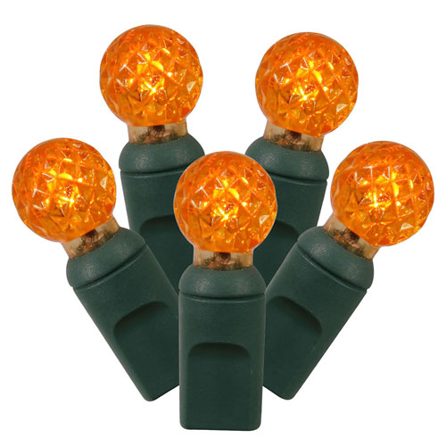 Orange LED Light Set with 50 Lights