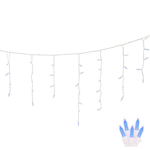 Blue 9 Foot LED Twinkle Icicle Light Set with 70 Lights
