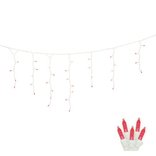 Red 9 Foot LED Twinkle Icicle Light Set with 70 Lights