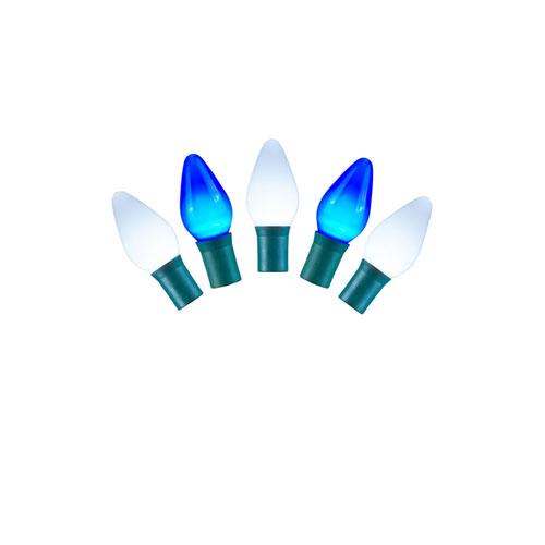 Blue and White LED Ceramic Light Set with 25 Lights