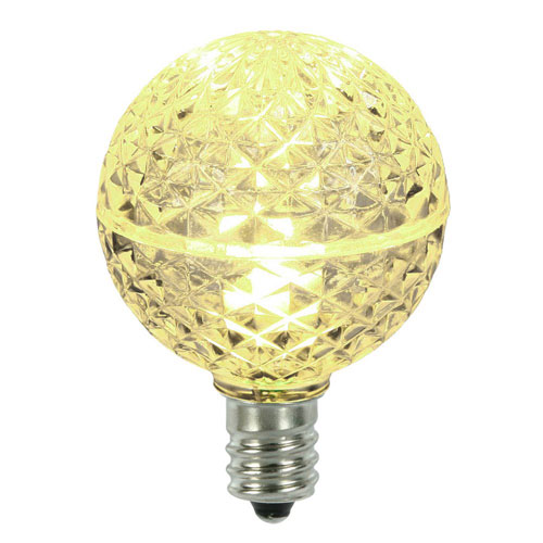G40 Warm White Faceted LED Bulbs, Set of Five