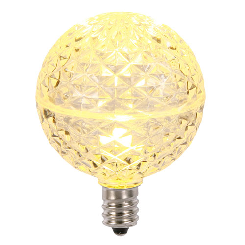 Vickerman G50 Warm White Faceted LED Bulbs, Set of Five