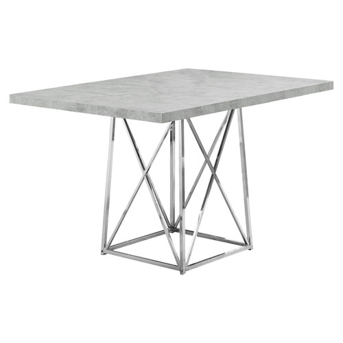 Gray 36-Inch Dining Table with Rectangular Top