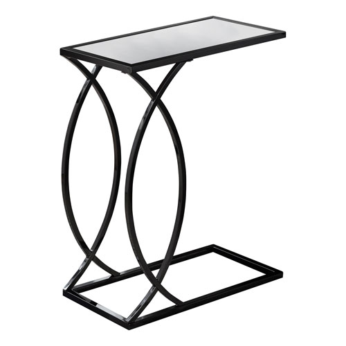 Black Nickel 18-Inch Accent Table