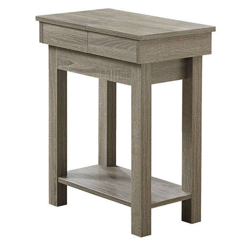 Dark Taupe 20-Inch Accent Table