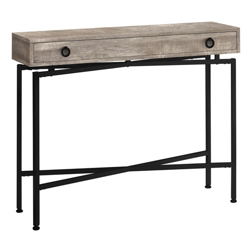 Taupe and Black 12-Inch Console Table