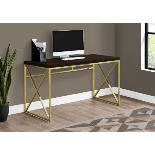 Cappucino and Gold 24-Inch Computer Desk